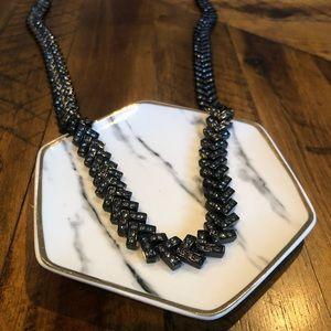 EUC Ann Taylor Statement Necklace in Black